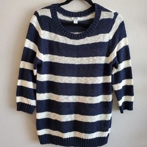Old Navy - Navy & White Striped Sweater